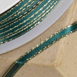 Club Green Satin / Lurex Ribbon Grn/Gold