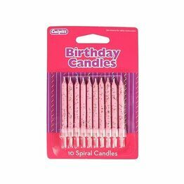 Culpitt Birthday Candles Glitter Blossom Pink DP658