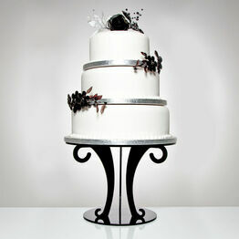 Black Acrylic Scroll Wedding Cake Stand