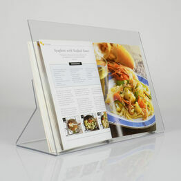 Clear Acrylic Recipe Book Stand With Splatter Screen