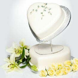 45 Degree Angled Heart Cake Stand
