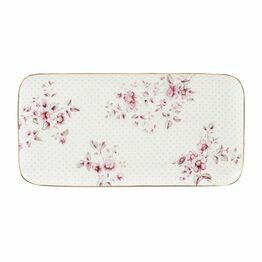Katie Alice Ditsy Floral Serve Platter White