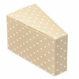 cake slice box coffee dots 85x45x50mm (10pack)