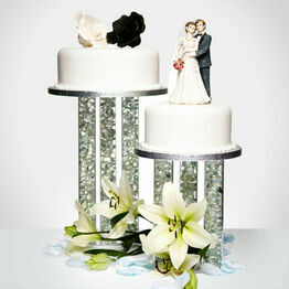 Clear Triple Hollow Tube Wedding Cake Pillar Separator