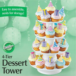 Wilton 4 Tier Stacked Dessert Stand