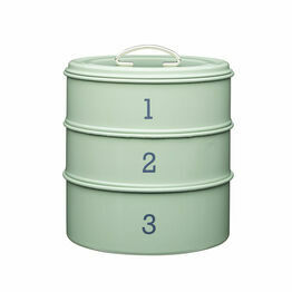 Living Nostalgia Sage Green Three Tier Cake Tin Set