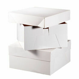 White Lidded Cake Box