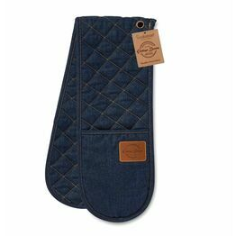 Double Oven Glove Oxford Denim Blue