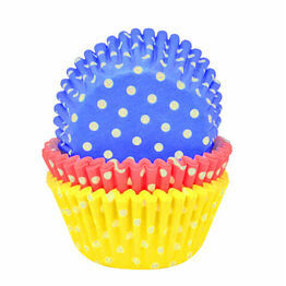 Cupcake Cases (75) Polka Dot Bright