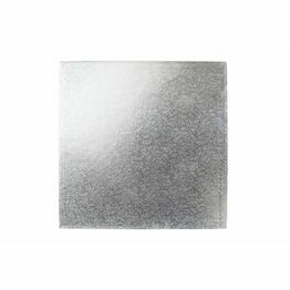 Cake Board 3mm Square Silver