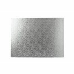 Cake Board 3mm Oblong Silver