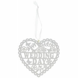 Wooden Wedding Day Heart 20 x 20cm.