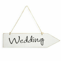 Wooden Wedding Arrow Sign 30 x 6cm