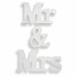 Wooden Mr & Mrs Table Decoration