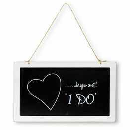 Wooden Blackboard Wedding Countdown - Days until 'I Do'