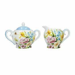 Katie Alice English Garden Sugar And Creamer Set