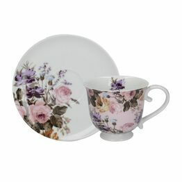 Katie Alice Wild Apricity Gingham Tea Cup And Saucer