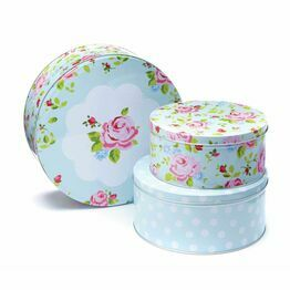 Vintage Floral Set of 3 Round Cake Tins