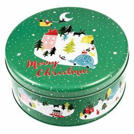 Metal Christmas Design Cake Tin Christmas Wonderland