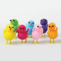 Small Assorted Pompom Chicks - 32mm DP564