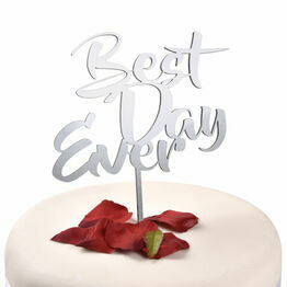 Acrylic Cake Topper Best Day Ever