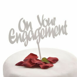 White Acrylic Cake Topper On Your Engagement