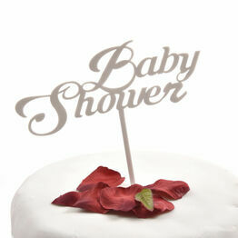 White Acrylic Cake Topper Baby Shower