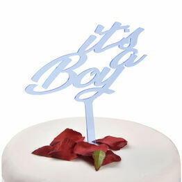 Blue Acrylic Cake Topper Its A Boy