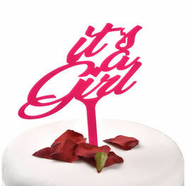 Pink Acrylic Cake Topper Its A Girl