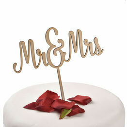 Wooden Cake Topper Mr & Mrs