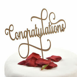 Wooden Cake Topper Congratulations