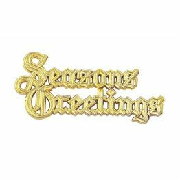 Plastic Seasons Greetings Gold Coloured Motto XP44