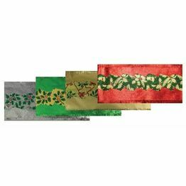 Christmas Cake Frill Metallic Holly Asstd AHX73