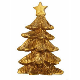 Christmas Fir Tree Gold Small F356
