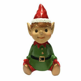Christmas Figures Sitting Elf asstd F361