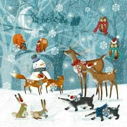 Christmas Napkins Winter Forest pack of 20