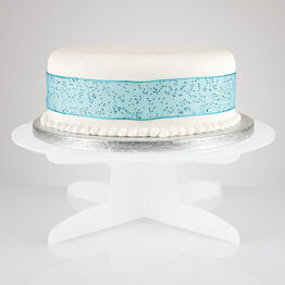 White Frosted Acrylic Flat Pack Pedestal Cake Stand