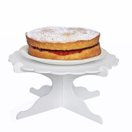 White Daisy Edge Flat Pack Pedestal Cake Stand
