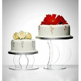 Clear Acrylic Spinnaker Cake Display Stands