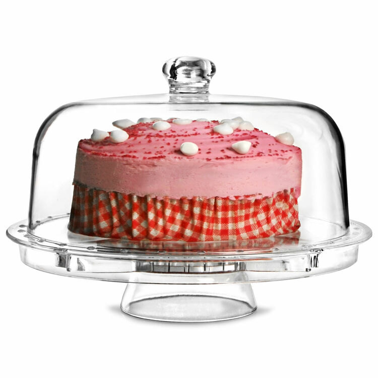 5 In 1 Multi Functional Cake Stand With Lid Dome