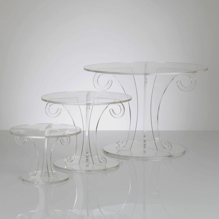 wedding cake tier stands uk scroll design clear acrylic wedding cake stand 26273