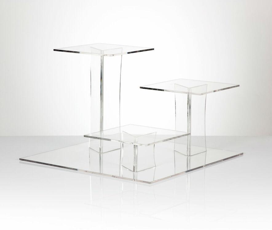Delia Square 3 Tier Acrylic Cake Stand