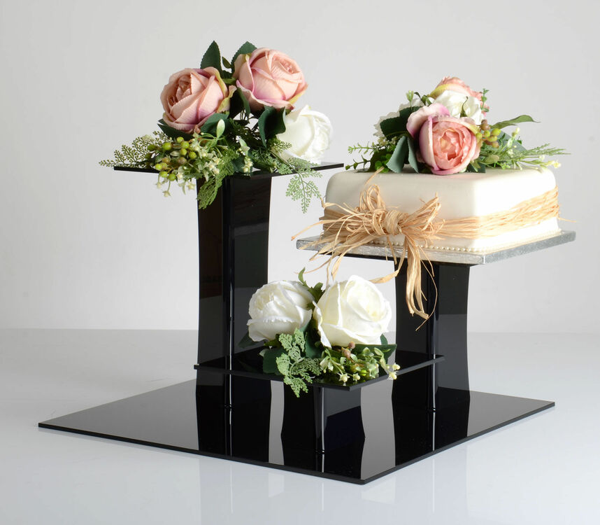 3 tier square wedding cake stands black delia square 3 tier acrylic cake stand only 163 49 51 10265