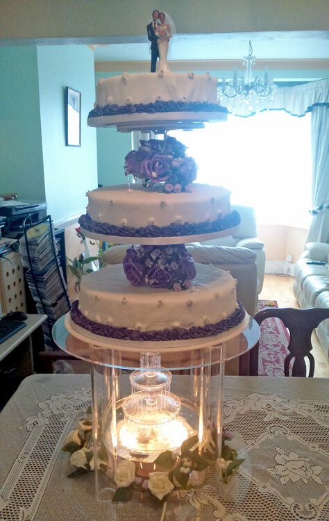 wedding cake tiers pillars four tier water pillar cake stand 26269