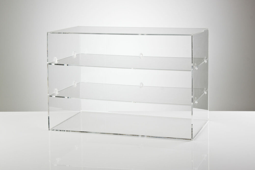 Clear Acrylic Counter Food Display Cabinet - 3 Shelves ...