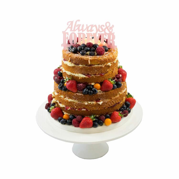 Forever Always Wedding Cake Topper