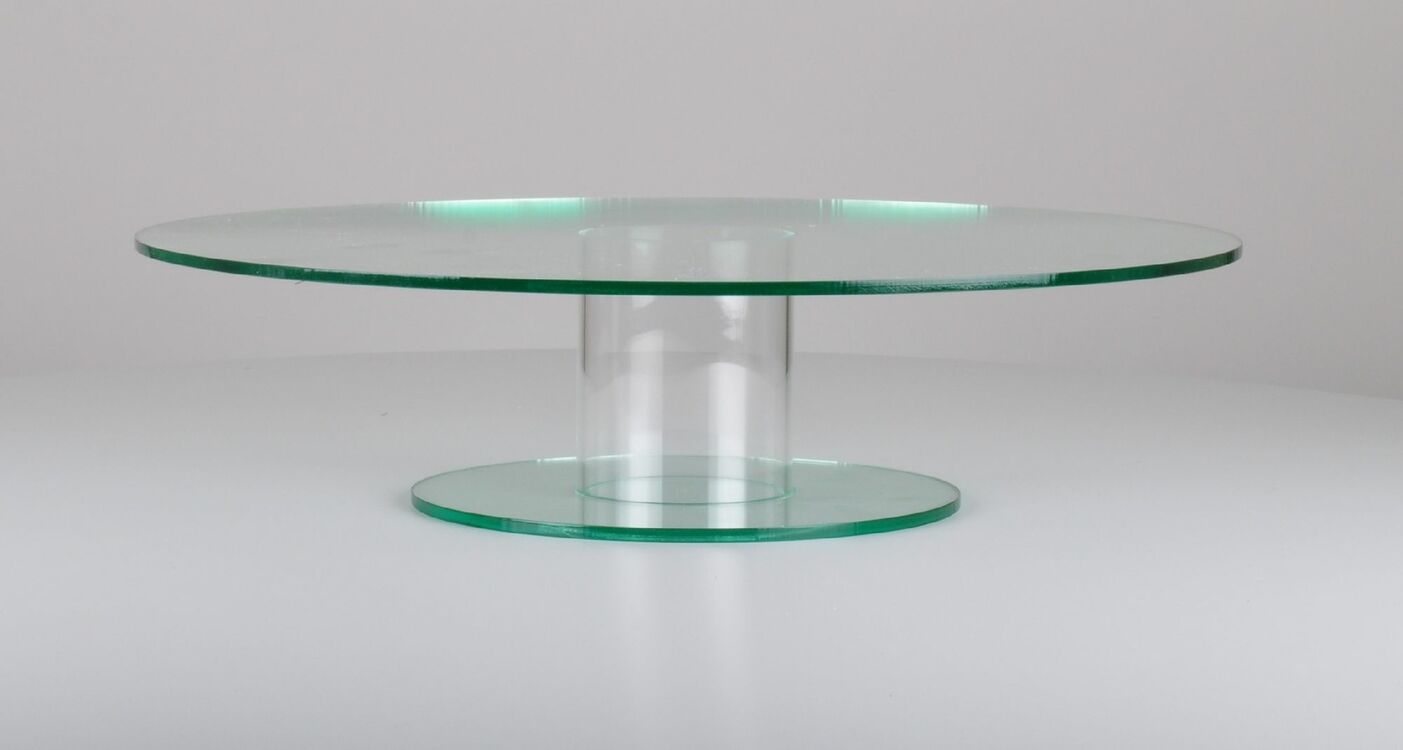 Glass Effect Acrylic Round Pedestal Cake Stand Only 163 39 78