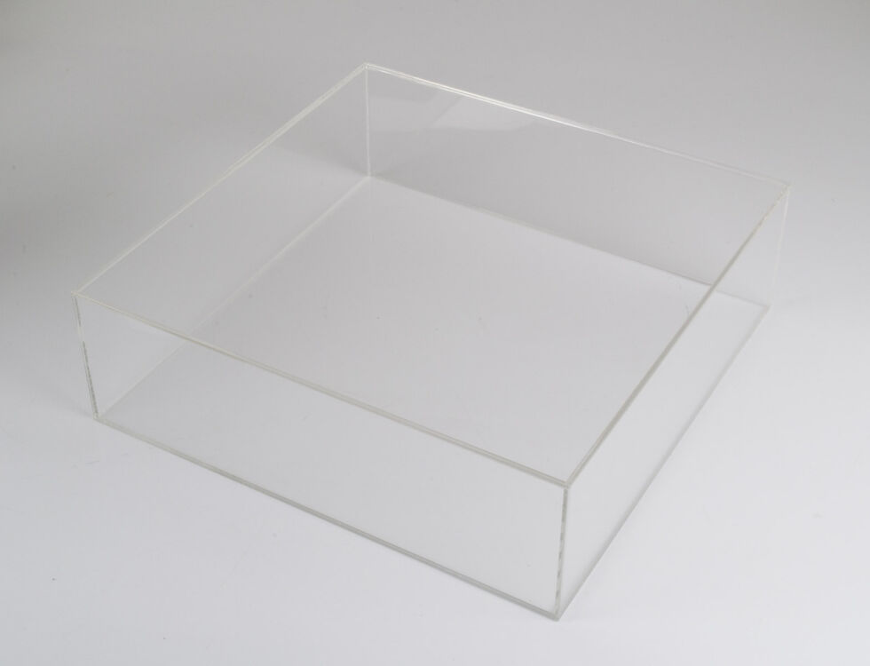 Clear Acrylic Square Cake Separator Case Display Boxes