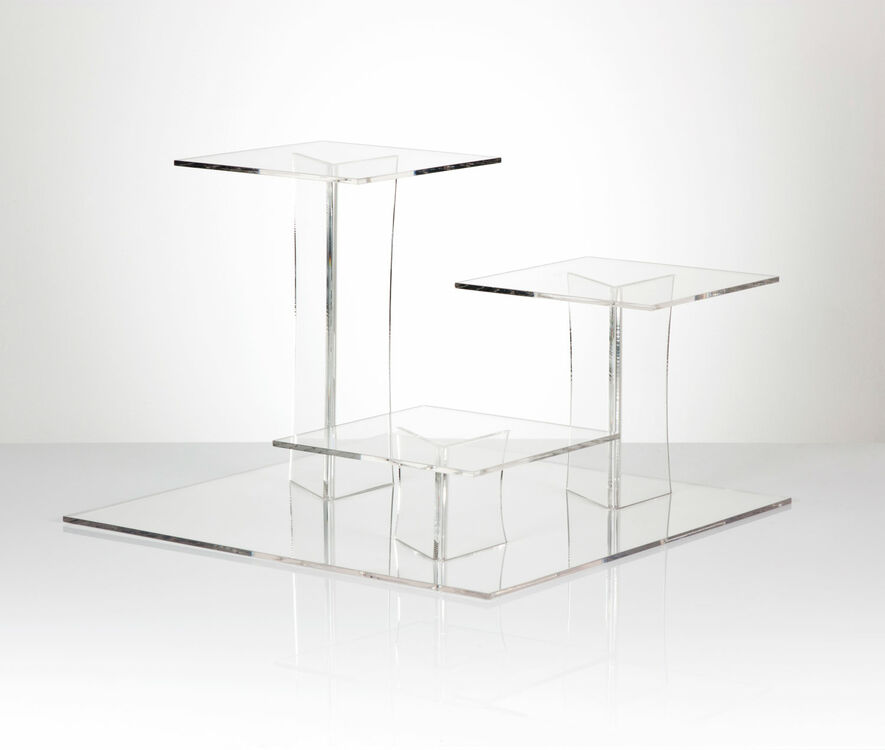 3 tier square wedding cake stands delia square 3 tier acrylic cake stand 10265