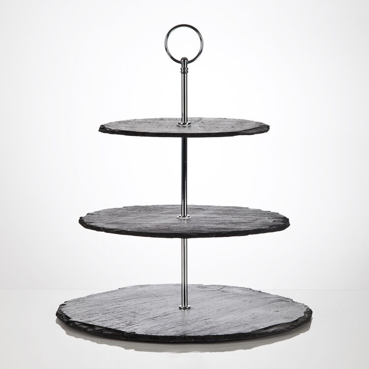 beautiful 3 tier hand crafted slate cupcake stand. Black Bedroom Furniture Sets. Home Design Ideas